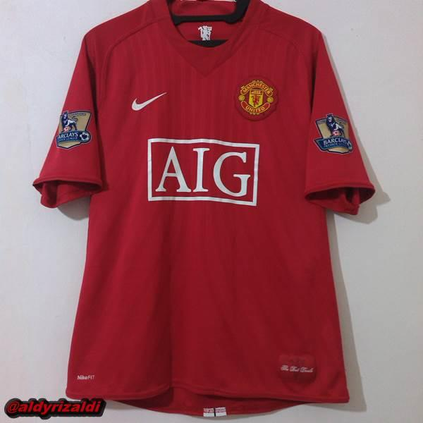 WTS Manchester United Home 2008 Nameset Nani, Patch BPL size M