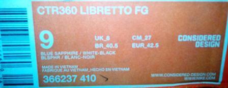 Sepatu Bola Nike CTR360 Libretto FG - BlueShappire/Black - 42.5/27cm