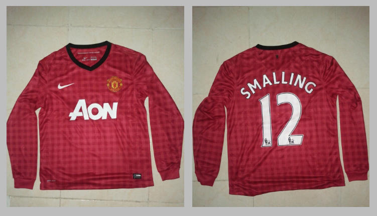 JERSEY MANCHESTER UNITED home 12/13 -SMALLING #12 - KW THAI - LS