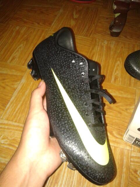 SEPATU BOLA Nike CR Mercurial Vapor Superfly III(7) FG Safari Cleats - Black Volt