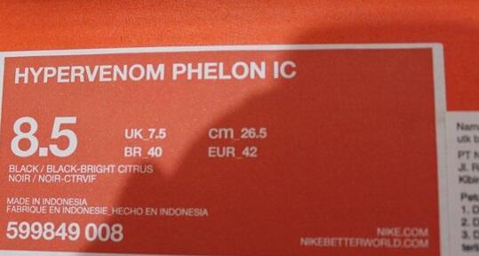 NIKE HYPERVENOM PHELON IC / FG Original 100%
