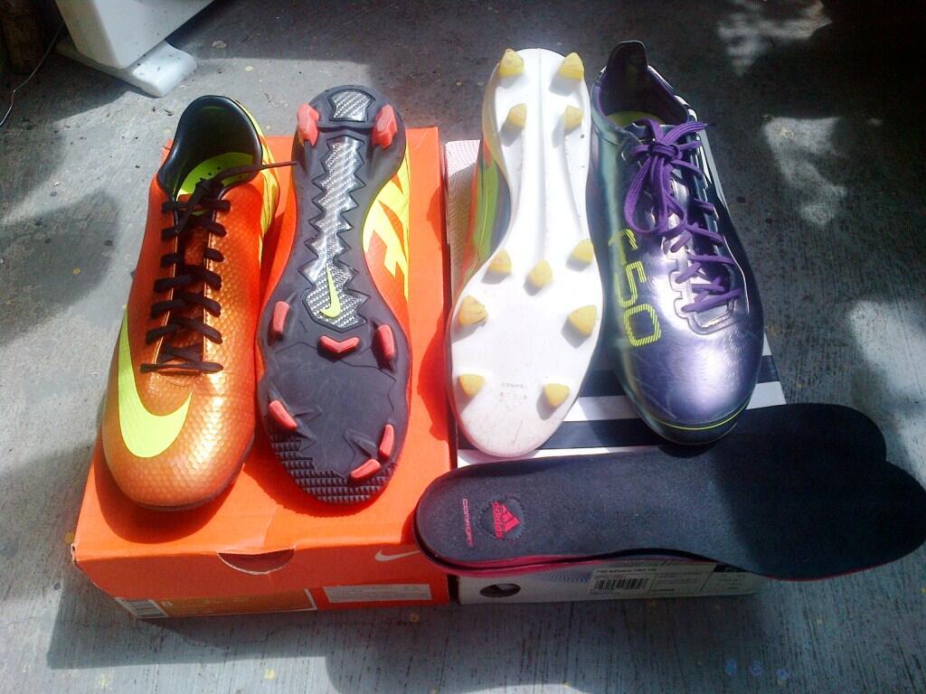 Adidas F50 Adizero Chameleon dan Nike Mercurial Veloce Sunset