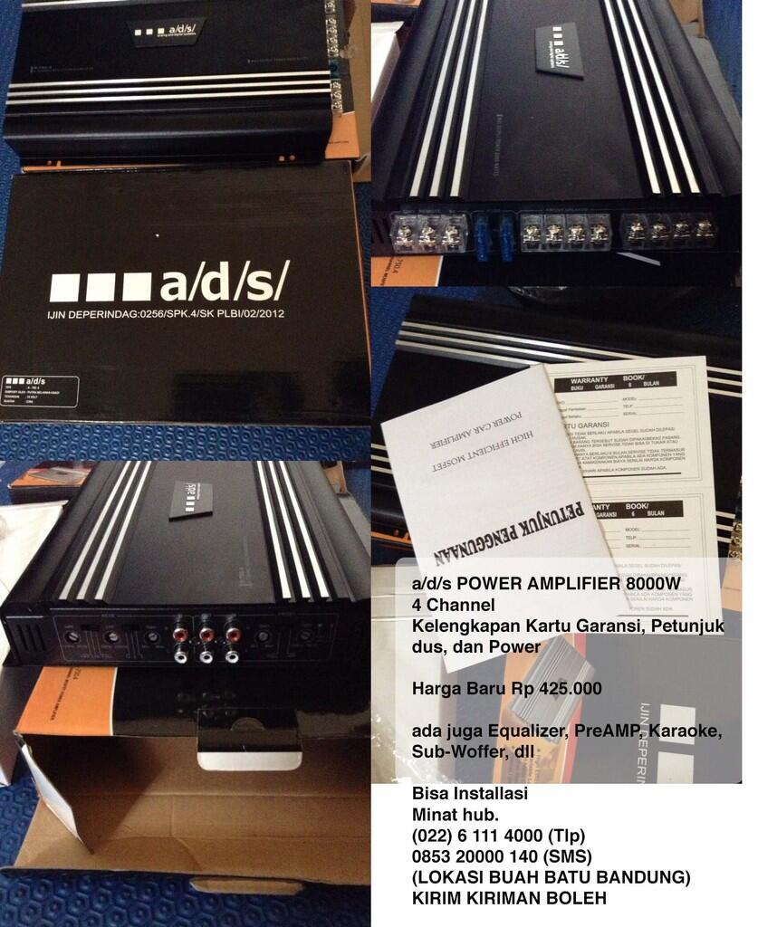 a/d/s POWER AMPLIFIER 8000W 4CH