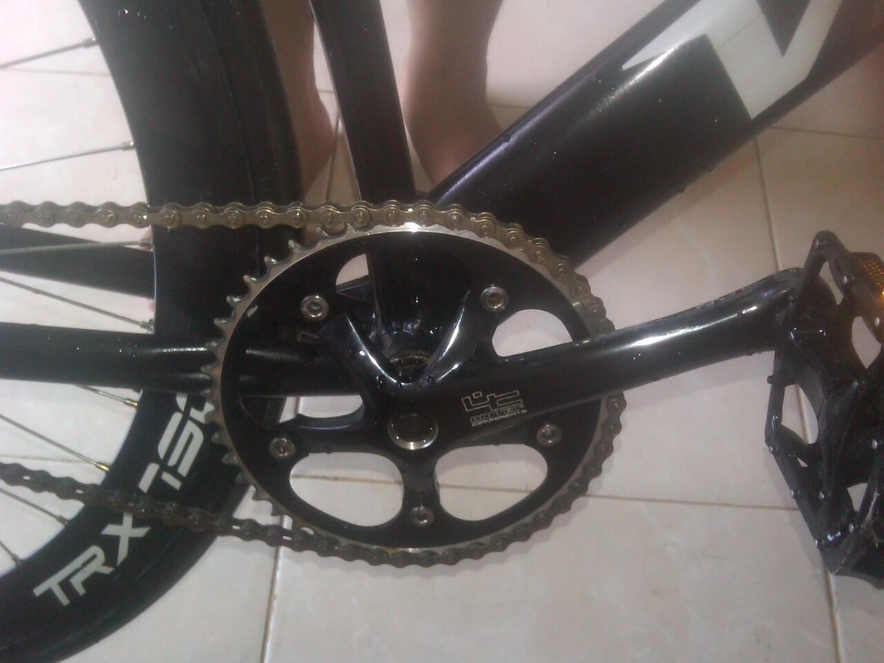 Terjual Jual Sepedah Fixie Frame Visp Custom Black Murah