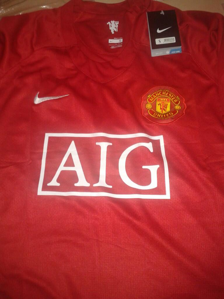 BNWT Jersey Grade Ori MU / Manchester United home retro 2007-2008