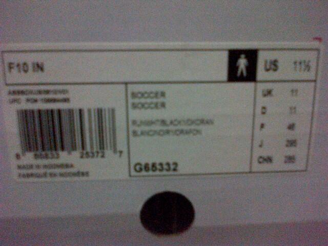 Sepatu Adidas F10 Lionel Messi ORI BNIB