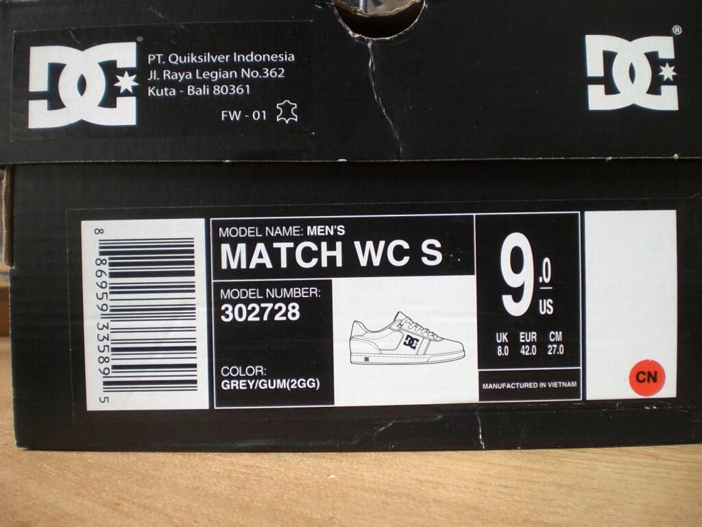 DC shoes MATCH WC S / grey / base gum