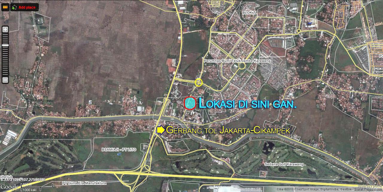 Tanah + 3 rumah kontrakan dekat gerbang tol karawang barat