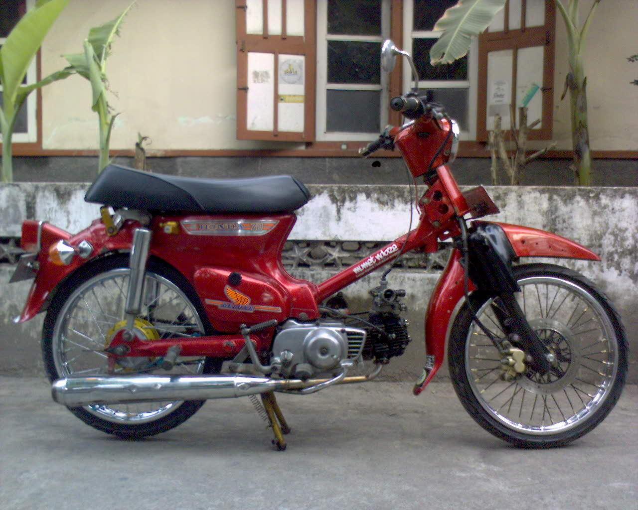 Cari Honda C70 Pitung Modif 4 Speed Plat AB Pajak Hidup Tahun 1980