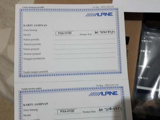 BNIB 100% Alpine PXA H100