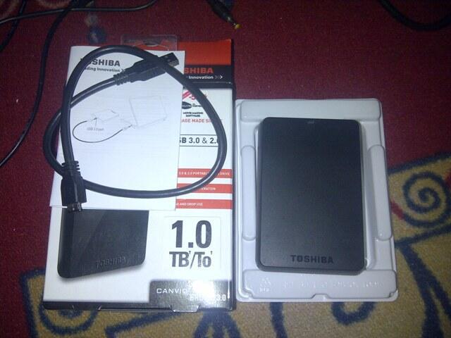 HDD / Hardisk external Toshiba 1 TB USB 3.0 Bandung FULL FILM