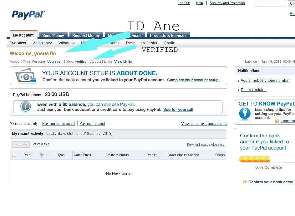 Terjual VBA (virtual bank account) -- bikin verified paypal us agan --