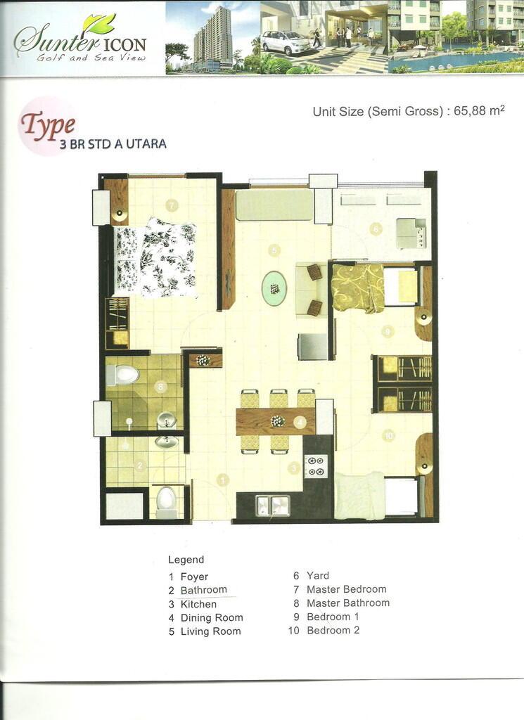 Jual Apartemen Sunter Icon Tower A Lt 9 Unit 901, Jakut (Lokasi Strategis & Sea View)