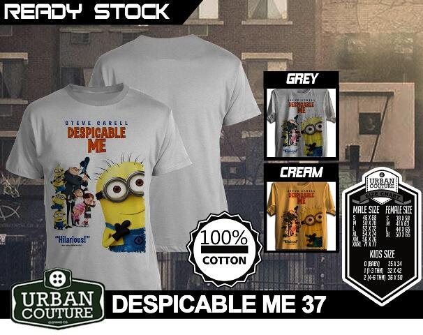 Kaos T-SHIRT Baju DESPICABLE ME 2 MINIONS SERIES Murmer !! All Items READY STOCK !!
