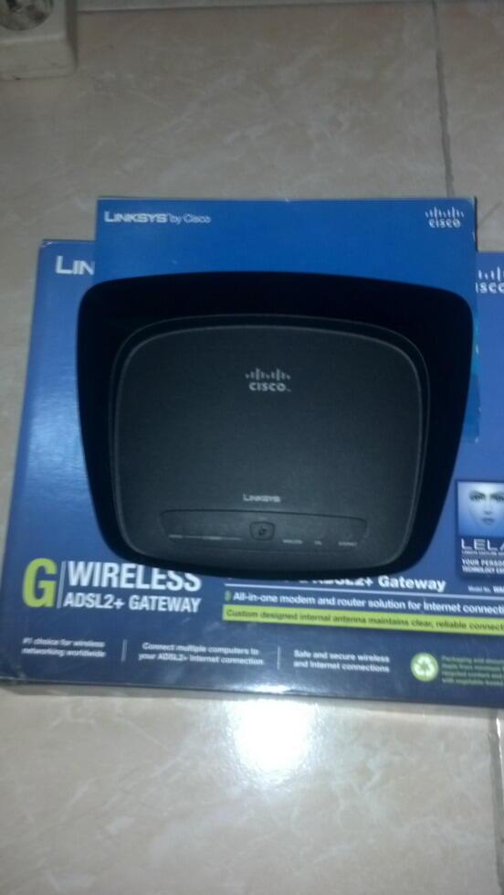Linksys WAG54G2 wireless adsl modem+router