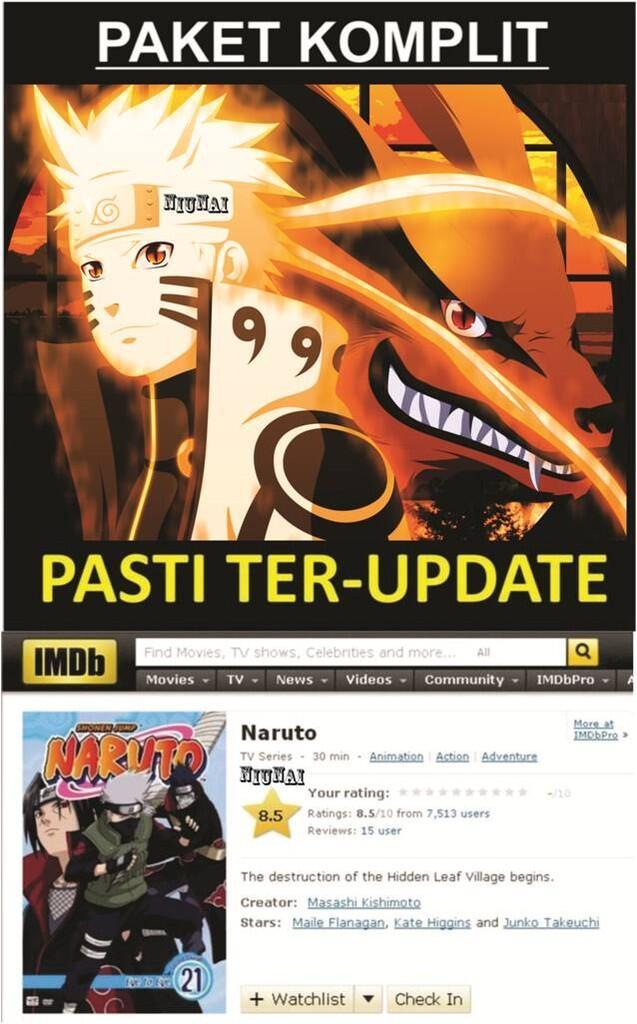 One piece komplit + naruto komplit ( subtitle indonesia ) harga termurah + anime lain