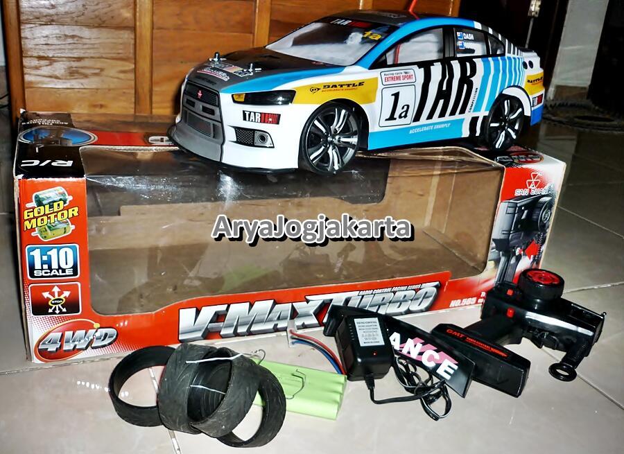Terjual Dijual Rc Drift Sanzuan Turbo 1 10 V Max Evo X Biru