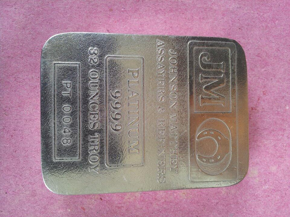 Terjual Jual Platinum Batangan Johnson Matthey Kaskus