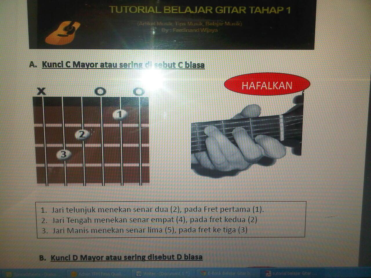 E-Book Belajar Gitar buat pemulaaa