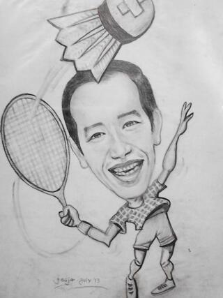 Jasa Lukis Wajah & Karikatur (DAVINCI), Cepat Murah Berkualitas