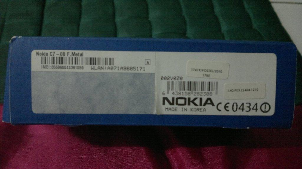 [WTS] HP Nokia C7-00 (Complete, Good Looking & Performance)