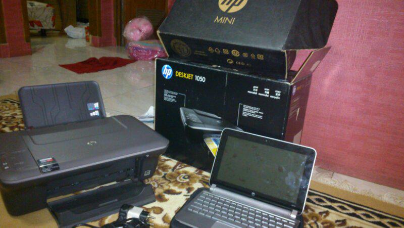 Jual notebook + printer second