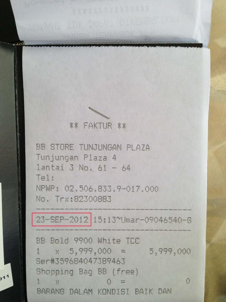 [WTS] Blackberry Dakota 9900 White (no tipu2)