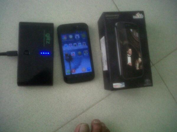 jual android imo s88 + power bank glitz 20rb MAH