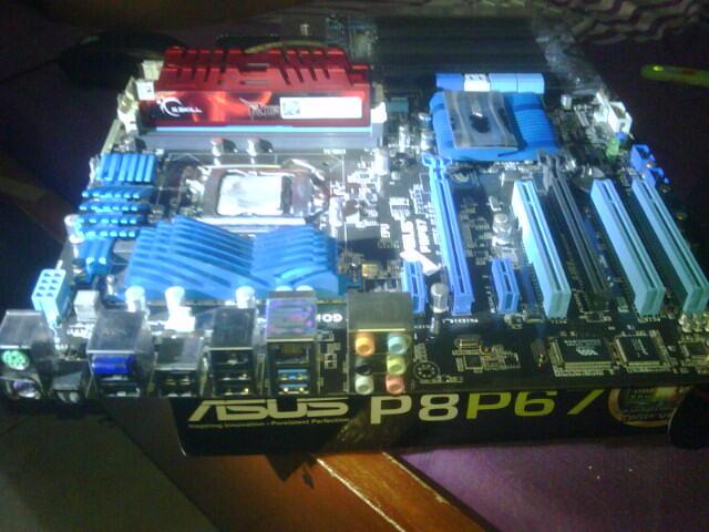 RAM GSKILL RIPJAWS X 8GB (DUAL KIT) ddr3-1600 & ASUS P8P67 SUPOT LVY BRIDGE