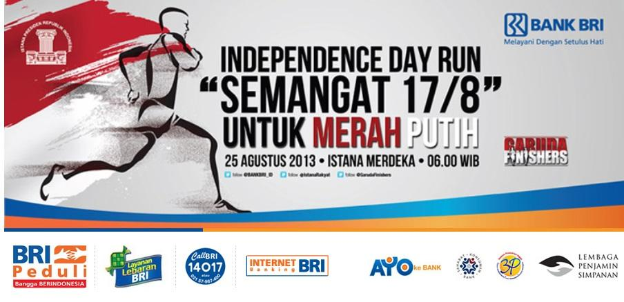 "[EVENT BANK BRI] INDEPENDENCE DAY RUN "" Semangat 17/8 "" [ Yuk Join ]"