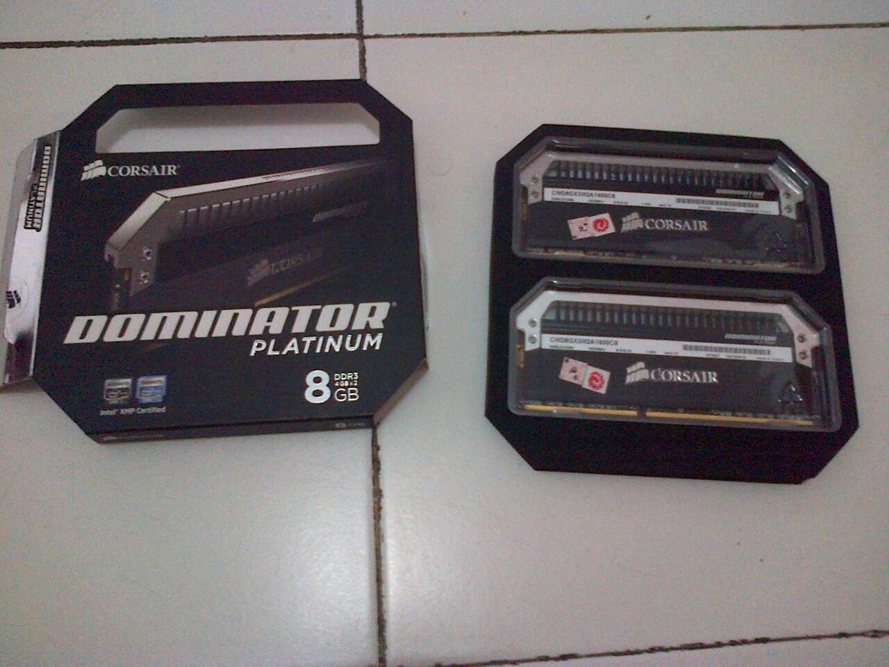 JUAL MEMORY CORSAIR DOMINATOR PLATINUM 8GB(2x4GB) 1600MHZ