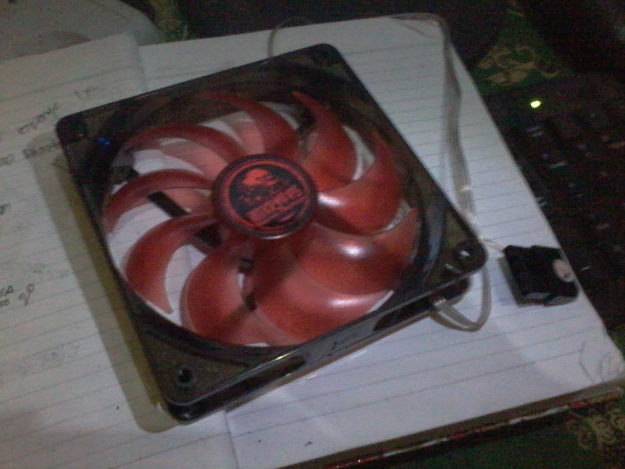 2 unit FAN casing 14 cm led red