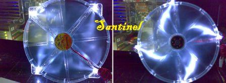 Thermaltake Fan 23cm crystal with Blue / White LED