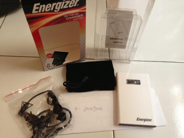Powerbank ENERGIZER seri XP4003A 4000mAh