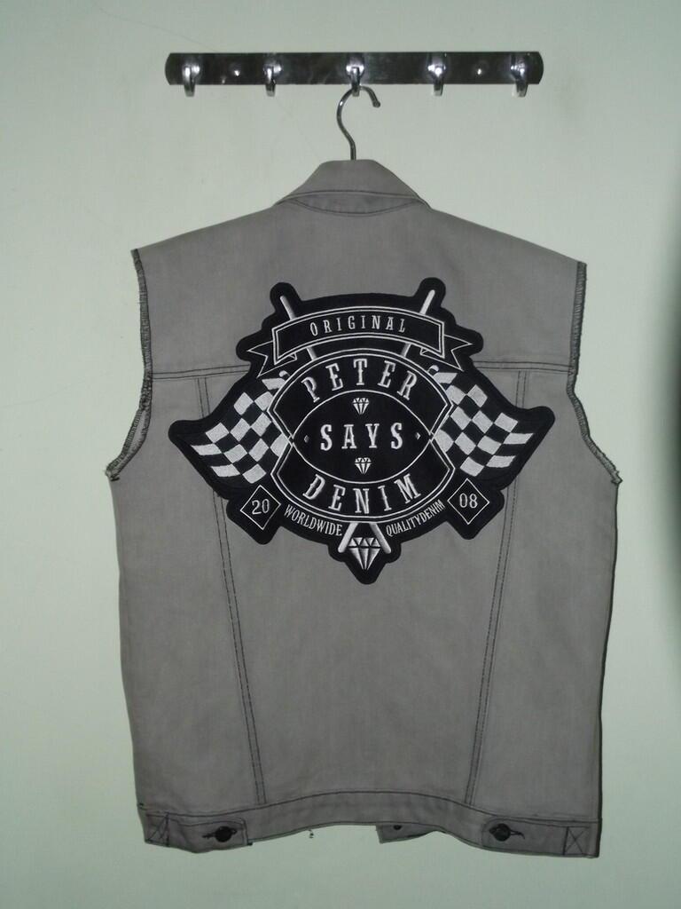 Lelang Vest/Rompi Petersaysdenim Final Grey 100% Original OB Rendah!!!