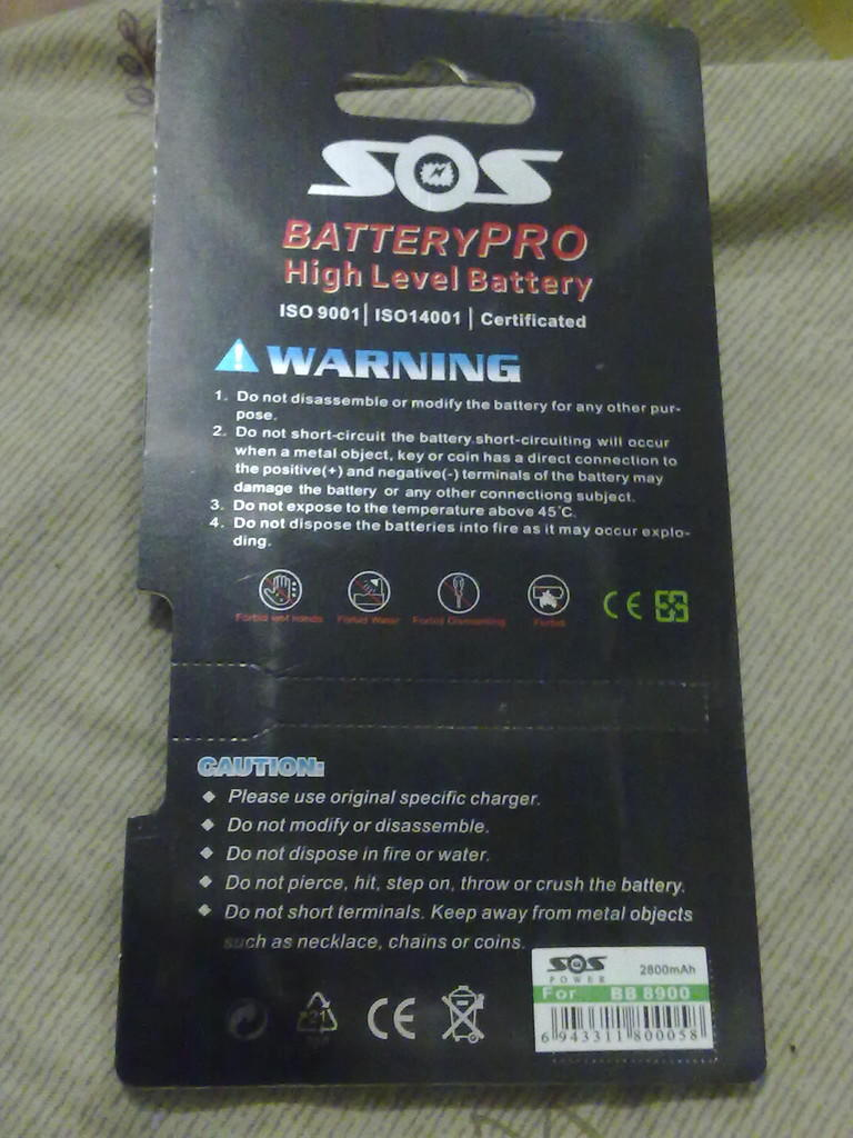 Jual Battery / Batre Blakberry DOUBLE POWER D-X1 2800mah merk SOS (Bandung)