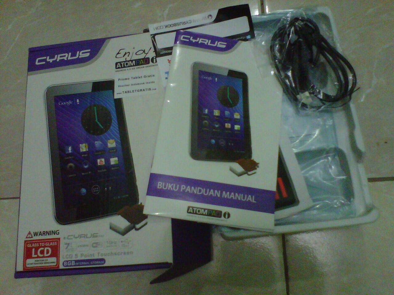 JUAL CYRUS ATOMPAD 8Gb (Kondisi LCD Rusak)