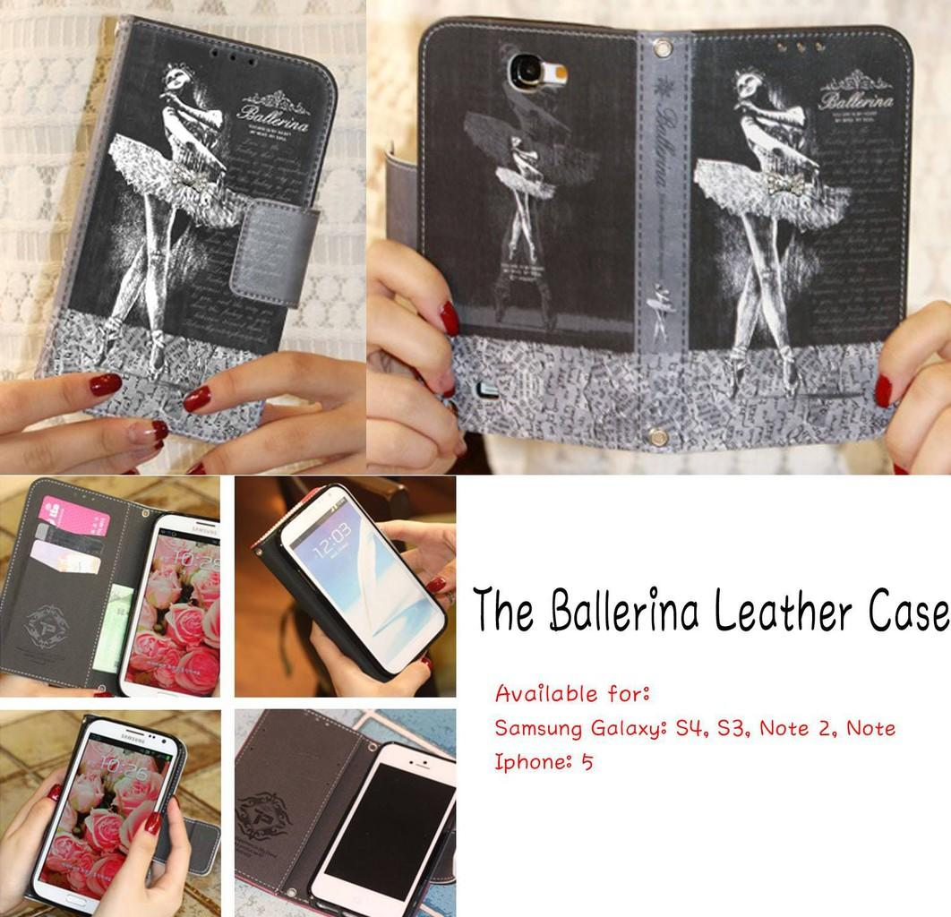 Diary Case / Leather Case for Samsung and Iphone import Korea
