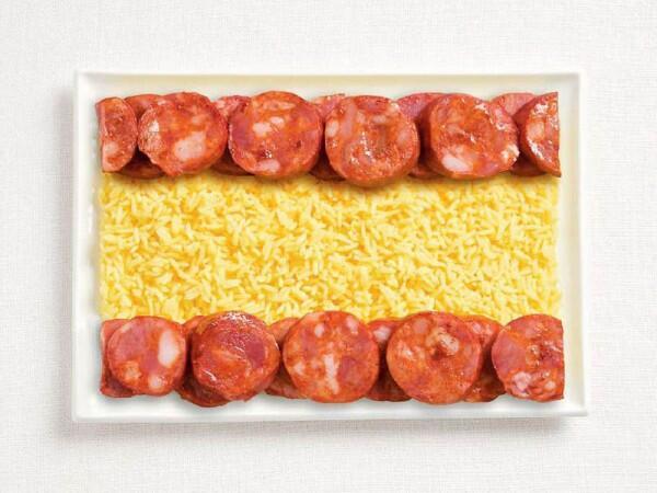 Keren! Bendera Nasional Dibuat Dengan Makanan Khas Negara (PIC)