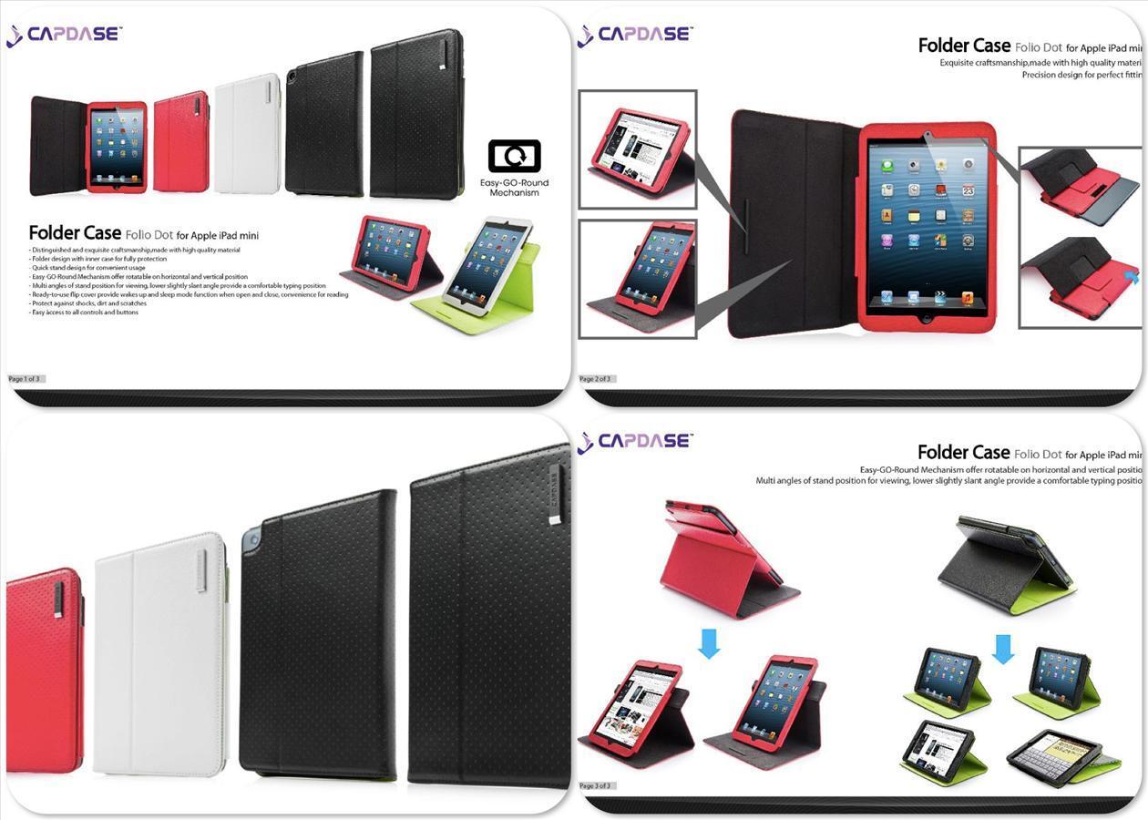 Hard/Flip Cover Leather Case iPad 2/3/4/Mini/New (Momax, Capdase, Kalaideng)