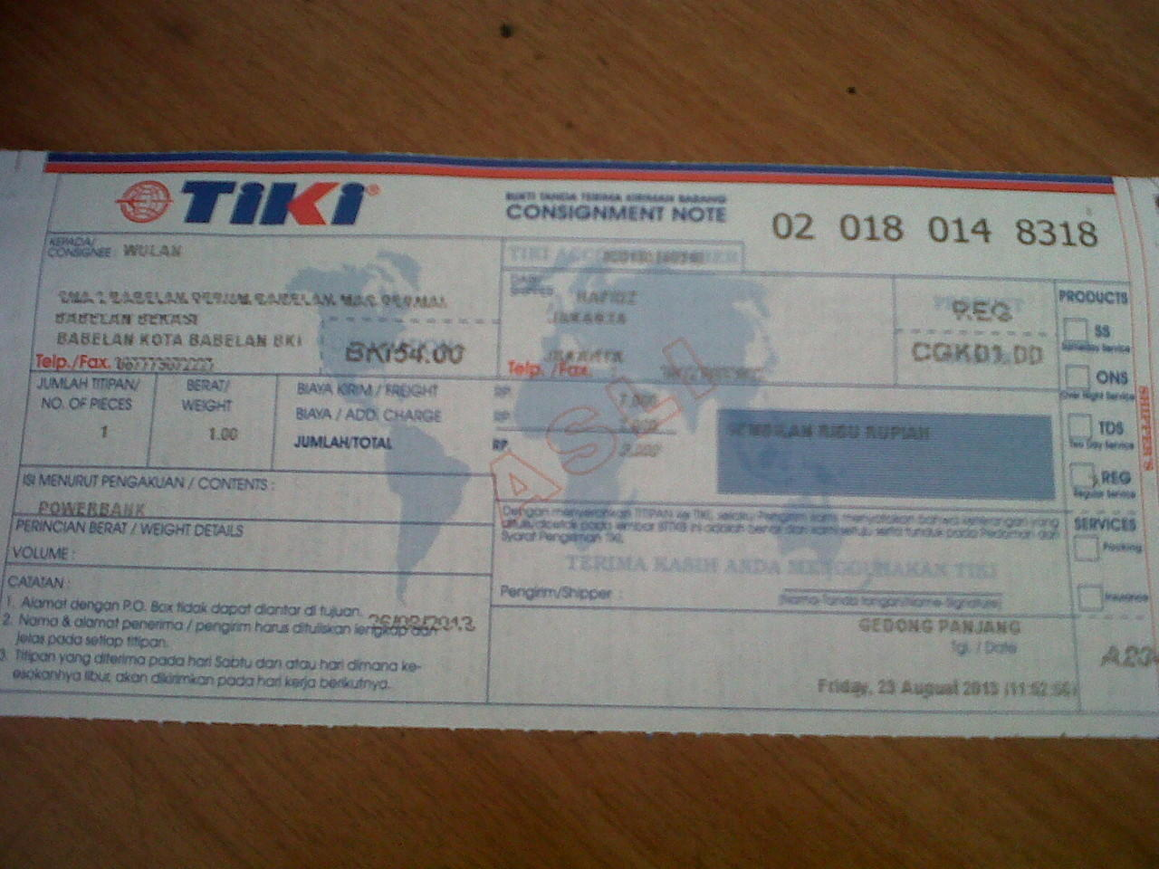 LAGI BOOMING POWERBANK KNY 3000 MAH !!!!!