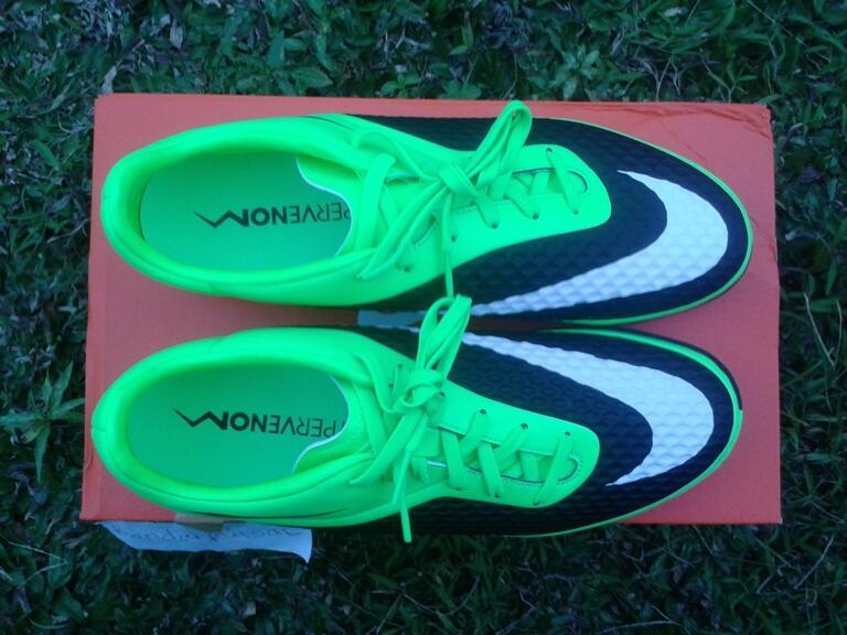jual sepatu futsal nike hypervenom phelon ic flash lime / hijau 100% Original