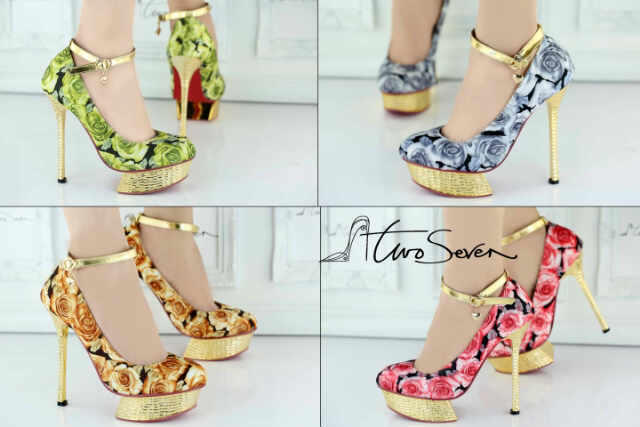 SEPATU HIGH HEELS, WEDGES, FLAT, SANDAL TWOSEVEN, TREASURE, VINE WEST