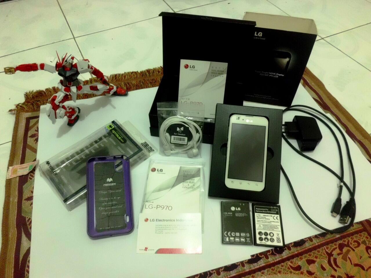 WTS LG Optimus Black P970 (White Version) JOGJA MURAHHH...!!!