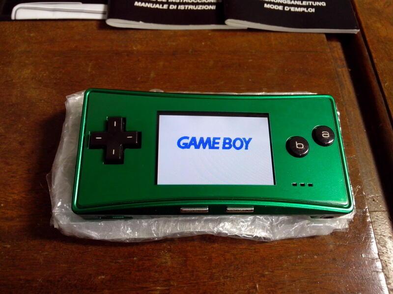 WTS Gameboy/Game boy Micro Green Fullset