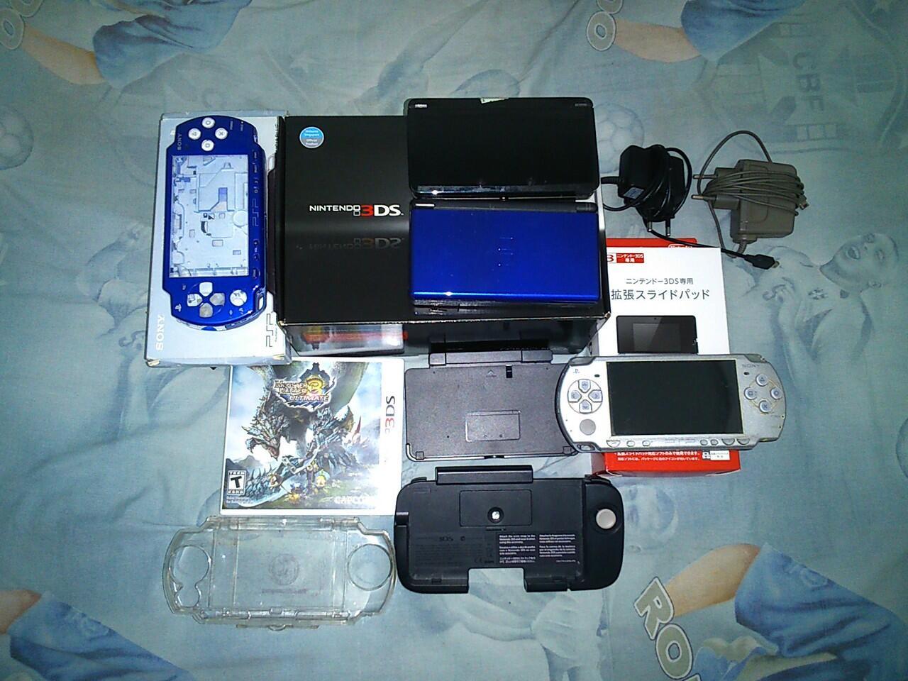 1 Paket : Nintendo 3ds + Nintendo Ds + Psp 2000