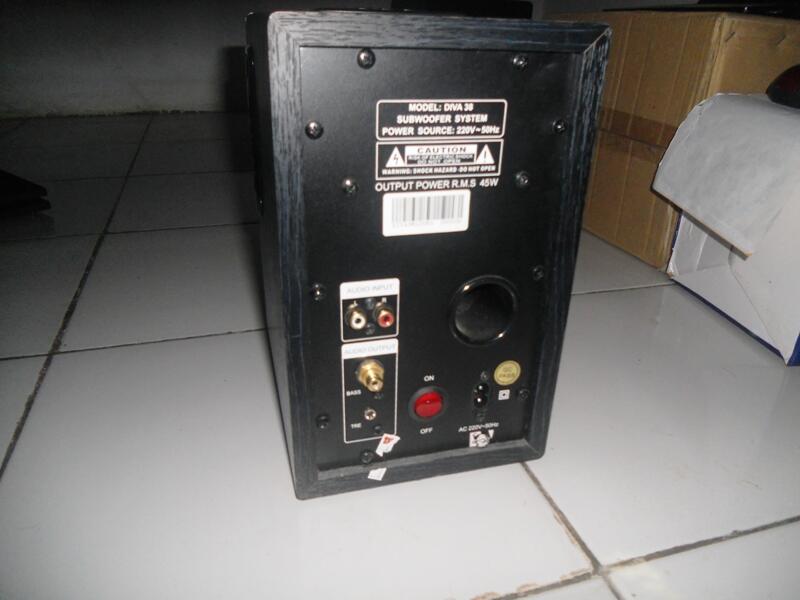 Speaker Dazumba Diva38 Modif + Subwoofer Sonicgear Sonic Array SW1