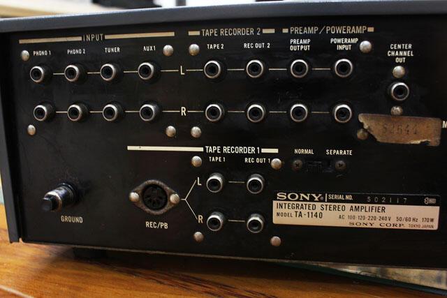 Amplifier Sony TA-1140 muluuss