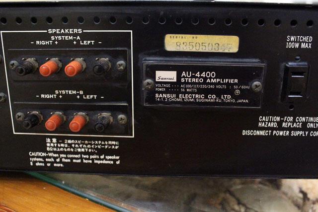 Amplifier Sansui AU-4400