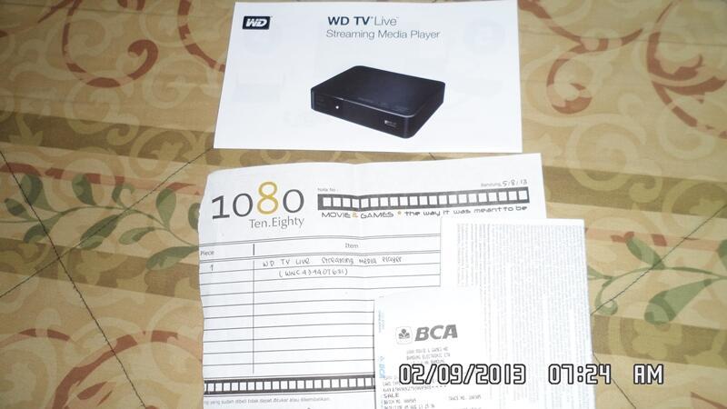 JUAL WD TV LIVE SECOND PEMAKAIAN 1 BULAN (MULUS,BERGARANSI)